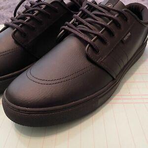 Kustom Remark Tough Black Leather Mens Shoes US 11 UK 10 EUR 44.5 Like New