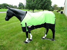 Horse Turnout  Sheet / Waterproof / Rip-stop / Neon Green 66""