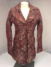 NWOT WET SEAL 90s Red Gold Grunge Victorian Paisley all over Jacket Coat XS