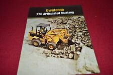 Owatonna 770 Articulated Mustag Loader Dealers Brochure DCPA4
