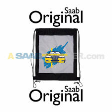 NEW GENUINE SAAB DRAWSTRING BAG BACK PACK YELLOW VIGGEN 9-3 ACCESSORY GIFT