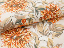 0,5 M Shabby Chic Fabric, Dahlia Floral Pattern, Cotton Fabric
