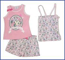 New Girls pink  Disney minnie bag pyjamas shorts top set age 8 years