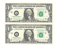 1988A $1 SAN FRANCISCO UNCUT SHEET OF 2 BANKNOTES, NEW & UNCIRCULATED