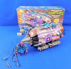 Vtg 1990 Mutant Module Vehicle w/Foot Soldier Figure TMNT Playmates Complete