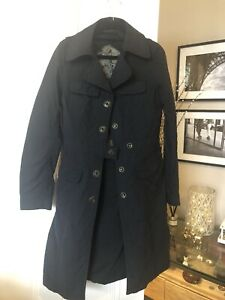 MEXX Navy 75% cotton 25% nylon Trench Jacket UK 10 women's size machine washable
