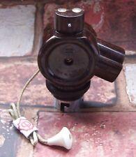 Convertir 1 à 2-vintage B22 bakélite bc baïonnette interrupteur à tirette lampe titulaire adaptateur