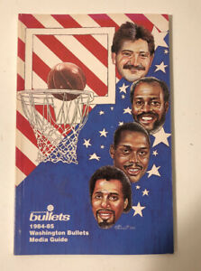 1984-1985 NBA Basketball Washington Bullets Media Guide Book MINT