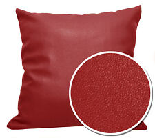 Pb303a Red Faux Leather Skin Soft PU Cushion Cover/Pillow Case*Custom Size*