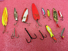 F4 Lot of fishing lures spoons Daredevle fire eyes Mepps syclops little swede