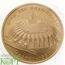 AA3324) RUSSLAND 100 Rubel 1979 - Olympiade Moskau - Druzhba-Halle - Gold