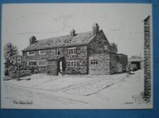 POSTCARD LANCASHIRE MAWDESLEY - THE BLACK BULL PENCIL SKETCH