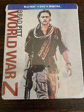 World War Z STEELBOOK Limited Edition (Blu-ray/DVD/Digital, 2018) FACTORY SEALED