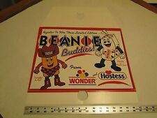 Hostess Wonder Bread Beanie Buddies Thin Cardboard Pole Sign