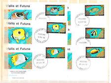 Wallis et Futuna  enveloppe 1er jour  faune  poissons  1992