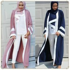 Dubai Style Women Open Front Kaftan Abaya Muslim Cardigan Jilbab Robe Maxi Dress