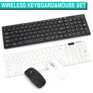Wireless Keyboard and Mouse Combo Set Optical Slim Kit for PC Laptop 2.4GHZ USB
