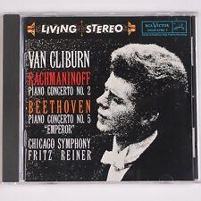 RACHMANINOFF: Piano Concerto, 2 Van Cliburn Reiner RCA Living Stereo LSC-2601 CD