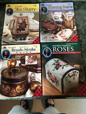 Lot 4 Priscilla Hauser Decorative Painting Books: Brush Strokes Roses Tea Party