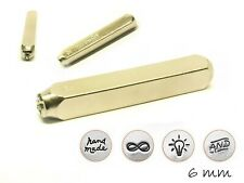 4 Stempel Set Symbole (Infinity, hand made,...) Impressart, Schriftgröße: 6 mm