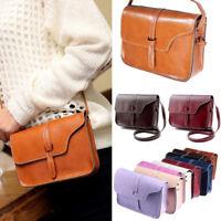 Fashion Women Ladies Solid Ring Leather Messenger Shoulder Bag Chest Bag