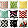 Vintage Bohemian geometry cotton linen pillow case car cushion cover home Decor
