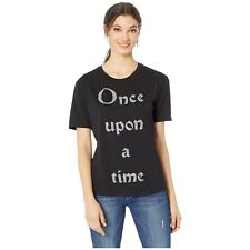 Juicy Couture Beauty and the Beast Crystal Once Upon A Time Black T Shirt L NWT