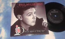 "PAUL MCCARTNEY ‎– Once Upon A Long Ago UK 7"" Single w/CARD SLV VINYL NEAR MINT"