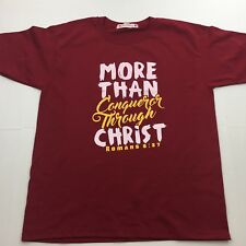 New I LOVE JESUS CLOTHING Bible Verse Romans 8:37 XL Short Sleeve T-Shirt NWOT
