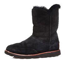 UGG Australia Shanleigh Suede Boot Black Women Sz 6 4187 *
