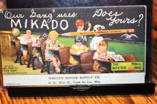 "#123,Seldom Seen Vintage Ink Blotter,Mikado Pencil ""Our Gang"" Comedy"
