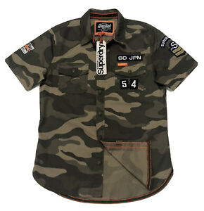 Superdry Men's Military Inspired Short Sleeve Shirt In Camo