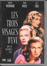 DVD ZONE 2--LES TROIS VISAGES D' EVE--WOODWARD/WAYNE/COBB