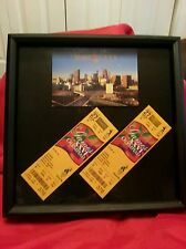 Atlanta Olympics  2 Unused 1996 Baseball Tickets Picture Framed Collector's Item