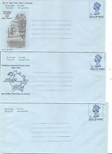 Isle Of Man Year 1974 7P, Air Letter,aerogramme. 3 Different, Postally Unused