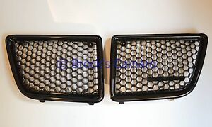 92-95 GRAND AM FRONT BUMPER GRILLES SET RH & LH BLACK NEW GRILL GM1200234 & 235