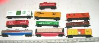 Lot of 10 Vintage TYCO LIFELIKE & Other HO Scale Freight Train Railroad RR Cars