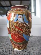 VASE SATSUMA Porcelaine JAPONAISE SUJETS ASSIS 12,5 cm haut