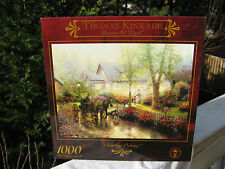 Thomas Kinkade SUNDAY OUTING 1000 Piece Jigsaw Puzzle New & Sealed In The Box!