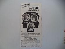 advertising Pubblicità 1972 PARRUCCHE ALEXANDER