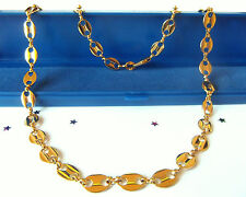 GOOD QUALITY  9ct Gold Plate Men's Chain Necklace