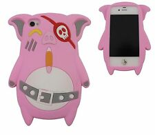COVER IPHONE 4 4S CASE CUSTODIA SILICONE MAIALINO MAIALE ROSA PINK PIG