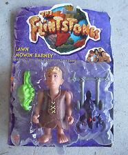 1993 Mattel Flintstones Lawn Mowin Barney Action Figure NIP