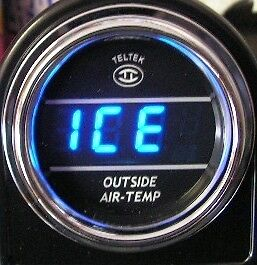 AUTOMOTIVE DODGE CHEVY FORD OUTSIDE TEMPERATURE GAUGE W/ PROBE AND MOUNTING 201