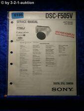Sony Service Manual DSC F505V Level 1 Digital Still Camera (#6196)