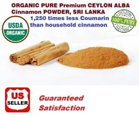 1 LB(16oz) ORGANIC PURE Premium CEYLON ALBA Cinnamon Powder, SRI LANKA,US SELLER