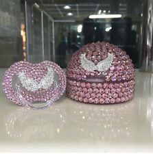 Swarovski pacifier and pacifier case
