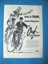 PUBLICITE DE PRESSE ASPRO MEDICAMENT TOUR DE FRANCE CYCLISTE FRENCH AD 1957