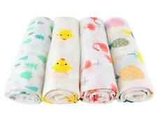 Super Soft Baby Newborn Muslin Cotton Swaddle Blanket Wrap Nursing Cover 45x45