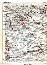Saratow Uralsk Volgograd 1910 orig. Eisenb.-Atlaskarte Kamyschin Borisoglebsk